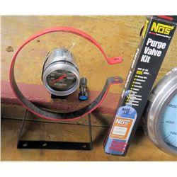 NOS Nitrous Oxide Purge Valve Kit & Gauge