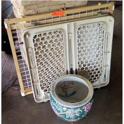 Misc Portable Baby Safe Guard Gate w/ Oriental Planter Pot