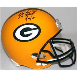 """Brett Favre Signed LE Packers Full-Size Helmet Inscribed """"4 Retired 7/18/15"""" #8/44 (Favre Hologram"""