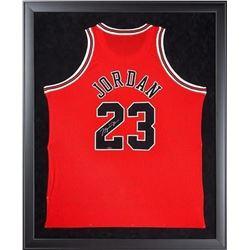 Michael Jordan Signed Bulls 32x44 Custom Framed Authentic Mitchell  Ness Jersey (UDA COA)