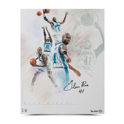 "Glen Rice Signed Hornets ""Buzz"" 16x20 Collage Photo LE 50 (UDA COA)"