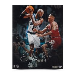 "Glen Rice Signed Hornets ""Offense vs. Defense"" 8x10 Photo (UDA COA)"