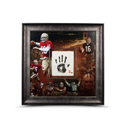 Joe Montana Signed 49ers LE 36x36 Custom Framed Tegata Display (UDA COA)
