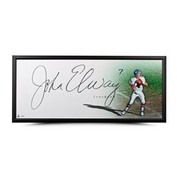 "John Elway Signed ""The Show"" 20x46 Custom Framed Photo (UDA COA)"