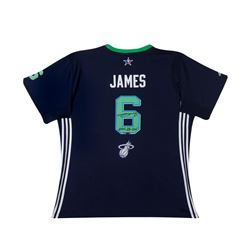"""LeBron James Signed 2014 All Star Swingman Jersey Inscribed """"2014 All Star"""" LE 14 (UDA COA)"""