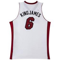 "LeBron James Signed ""King James"" Heat Jersey (UDA COA)"