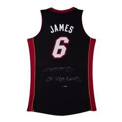 "LeBron James Signed LE Heat Jersey Inscribed ""2x NBA Champs"" (UDA COA)"