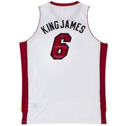 """LeBron James Signed LE Heat """"King James"""" Jersey Inscribed """"King James"""" (UDA COA)"""