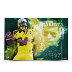 """Marcus Mariota Signed Oregon Ducks """"Sensation"""" LE 16x24 Photo (UDA COA)"""