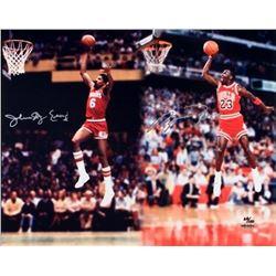 "Michael Jordan  Julius ""Dr. J"" Erving Signed 16x20 Limited Edition Photo (UDA COA)"