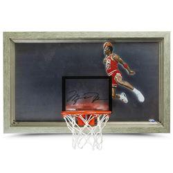 "Michael Jordan Signed Bulls ""1988 Slam Dunk"" 18x30 Custom Framed Backboard Display (UDA COA)"