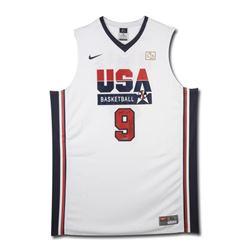 "Michael Jordan Signed LE Team USA Nike Jersey Inscribed ""2009 HOF"" (UDA COA)"