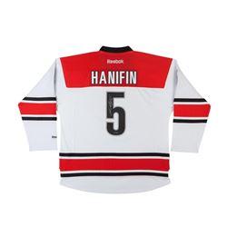 Noah Hanifin Signed Hurricanes Jersey (UDA COA)