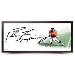 """Peyton Manning Signed """"The Show"""" 20x46 Custom Framed Lithograph (UDA COA)"""