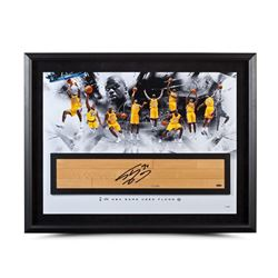 Shaquille O'Neal Signed Lakers LE 24x36 Custom Framed Game Used Floor Display (UDA COA)
