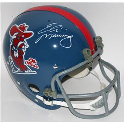 Archie Manning  Eli Manning Signed Ole Miss Full Size Throwback Suspension Helmet (Radtke COA)