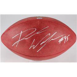 """Derek Wolfe Signed """"The Duke"""" Official NFL Game Ball (Radtke Hologram)"""