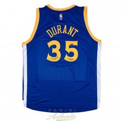 """Kevin Durant Signed LE Warriors Jersey Inscribed """"Dub Nation"""" (Panini COA)"""