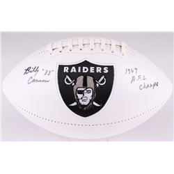 """Billy Cannon Signed Raiders Logo Football Inscribed """"1967 A.F.L. Champs"""" (Radtke COA)"""