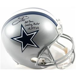 """Emmitt Smith Signed Cowboys Full-Size Helmet Inscribed """"All Time Leading Rusher 18,355 Yds""""  (Prova"""
