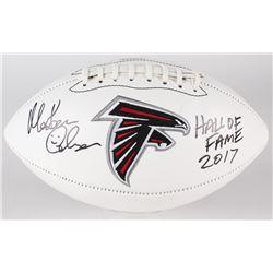 "Morten Andersen Signed Falcons Logo Football Inscribed ""Hall of Fame 2017"" (Andersen Hologram)"