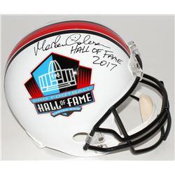 "Morten Andersen Signed Hall of Fame Commemorative Full-Size Helmet Inscribed ""Hall of Fame 2017"" (Ra"