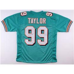 Jason Taylor Signed Dolphins Jersey (JSA COA)