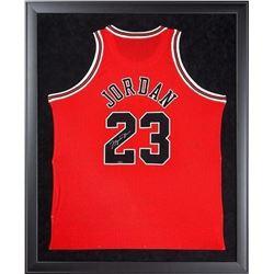 "Michael Jordan Signed Bulls 32"" x 44"" Custom Framed Jersey Display (UDA COA)"