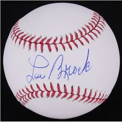 Lou Brock Signed OML Baseball (MLB Hologram)