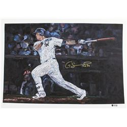 Gary Sanchez Signed LE Yankees 22x30 Fine Art Print from Hintz Studios (Steiner COA  MLB Hologram)