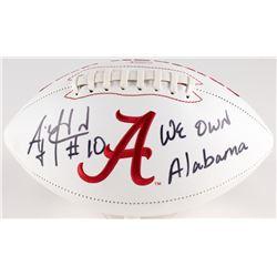"AJ McCarron Signed Alabama Crimson Tide Logo Football Inscribed ""We Own Alabama"" (Radtke COA)"