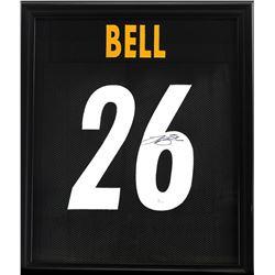 Le'Veon Bell Signed Steelers 23x27 Custom Framed Jersey (JSA COA)