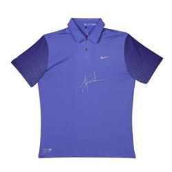 Tiger Woods Signed LE Nike Purple Haze Polo Shirt (UDA COA)