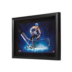 "Paul Coffey Signed Oilers 16"" x 24"" Custom Framed Hockey Stick Blade Display (UDA COA)"