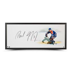 "Paul Coffey Signed Oilers ""The Show"" 20x46 Custom Framed Photo Display (UDA COA)"