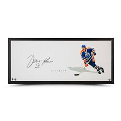 "Jari Kurri Signed Oilers ""The Show"" 20"" x 46"" Custom Framed Photo Display (UDA COA)"