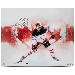 "Aaron Ekblad Signed Team Canada ""Home Pride"" 16x20 Photo (UDA COA)"
