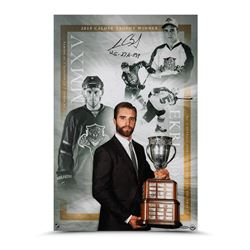 "Aaron Ekblad Signed Panthers ""2015 Calder Trophy"" 16x24 Photo Inscribed ""12G - 27A - 39P"" (UDA COA)"