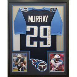 DeMarco Murray Signed Titans 34x42 Custom Framed Jersey (Radtke COA)