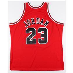 Michael Jordan Signed Mitchell  Ness Authentic Bulls Jersey (UDA COA)