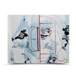 "Wayne Gretzky  Grant Fuhr Signed ""Aerial Assault"" LE 16x20 Photo (UDA COA)"