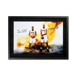 """LeBron James  Dwyane Wade Signed """"Next Level"""" 16x24 Custom Framed Limited Edition Photo (UDA COA)"""
