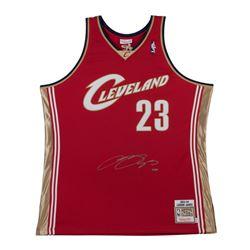 LeBron James Signed '03-'04 Cavaliers Wine Jersey (UDA COA)
