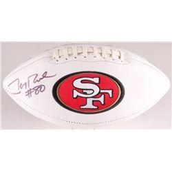 Jerry Rice Signed 49ers Logo Football (Rice Hologram)