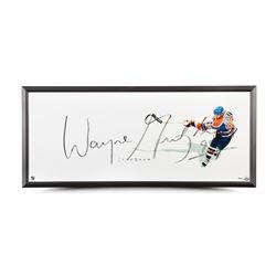 "Wayne Gretzky Signed Oilers ""The Show"" 20x46 Custom Framed Photo (UDA COA)"