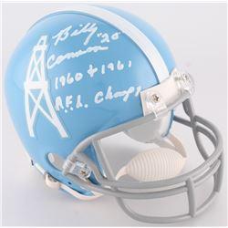 "Billy Cannon Signed Oilers Mini-Helmet Inscribed ""1960 + 1961 A.F.L. Champs"" (Radtke COA)"