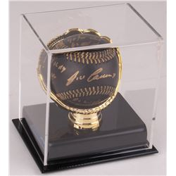 Jose Canseco Signed Black Leather OML Baseball With Multiple Inscriptions in Display Case (Beckett C