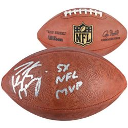 """Peyton Manning Signed """"The Duke"""" Official NFL Game Ball Inscribed """"5x NFL MVP"""" (Fanatics)"""