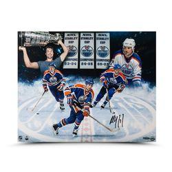 Paul Coffey Signed Oilers 16x20 Photo (UDA COA)