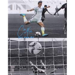"""Carli Lloyd Signed Team USA 16x20 Photo Inscribed """"2015 FIFA POY"""" (Lloyd Hologram)"""